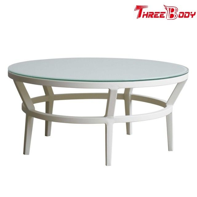 Fashion Modern Round Outdoor Coffee Table , Backyard Outdoor Patio Coffee Table
