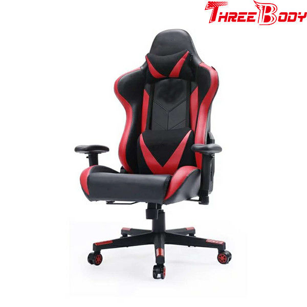 Office Racing Gaming Chair With Wide Armrests 360 Degree Swivel Rotation